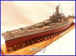 USS ALABAMA BB-60 / Pro Built 1-350 / FREE SHIPPING