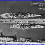 USS ALASKA CB1 USS MISSOURI BB63 CROATAN 8X10 PHOTO