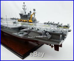 USS AMERICA CV-66 Battleship Model 39 Handcrafted Wooden Model Scale 1/300 NEW