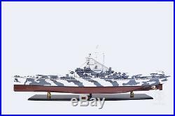 USS Alabama BB-60 Battleship 42.5 Handmade Wood Model Ship Assembled