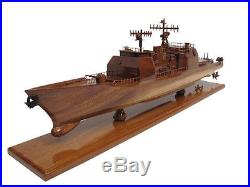 USS Anzio Ticonderoga Class Guided Missile Cruiser Navy Wooden Wood Ship Model
