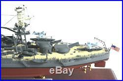 USS Arizona BB39 WWII 20.25 Wood Model With Signature Plug Assembled