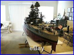 USS Arizona Battleship Model (Large Model scale 1/4 = 1'- 0)