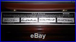 USS Arizona, Scale 1350 scale model, signed by 4 crewmen