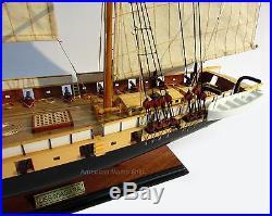 USS Brig Niagara Model Ship 33 Ready For Display- Built Wooden Model