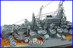 USS California BB-44 Tennessee-class Battleship Wooden Ship Model Scale 1200