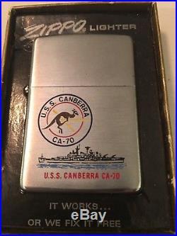 USS Canberra CA-70 Zippo Lighter