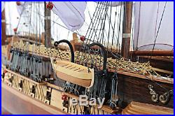 USS Constitution Copper Bottom Old Ironsides Tall Ship 38 Assembled Wood Model