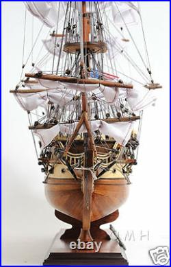 USS Constitution Old Ironsides Model 29 Tall Ship with Table Top Display Case New