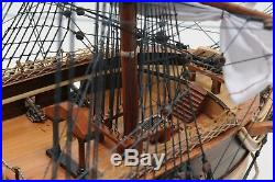 USS Constitution Old Ironsides Tall Sailing Ship Frigate Assembled Wooden Model