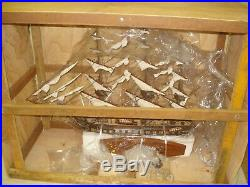 USS Constitution Old Ironsides Wooden Tall Ship Model 29 With Glass Display Case