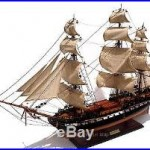 USS Constitution Ship Model by master craftsmen 35 Built Wooden Model