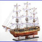 USS Constitution Tall Ship Wooden Model 38 Copper Bottom Old Ironsides New