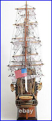 USS Constitution Wooden Tall Ship Model 29 Old Ironsides Fully Assembled Replica