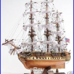 USS Constitution Wooden Tall Ship Model 31 Old Ironsides Fully Assembled New