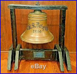 USS Dolphin PG-24 ships bell. Incredible history! Read Wikipedia article + more