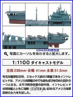 USS Essex class aircraft carrier 1943 1/1100 diecast model Battleship eaglemoss