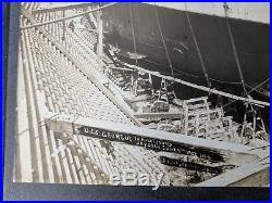 USS Georgia BB-15 Battleship in Puget Sound Drydock 1907 Original Photo Unique