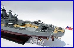 USS IOWA (BB-61) Handcrafted War Ship Display Model NEW