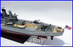 USS IOWA BB61 Battleship Model 40 Handcrafted Wooden Warship Model