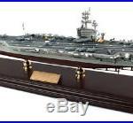 USS Intrepid Aircraft Carrier Built 30 Wooden Desktop Model Ship Assembled
