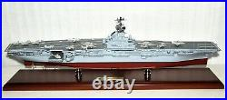 USS Intrepid CV-11 Aircraft Carrier 1/350 Scale Mahogany Ship Model United State