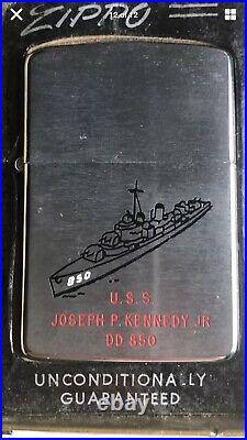 USS Joseph P. Kennedy JR DD 850 zippo 1960 new in original box