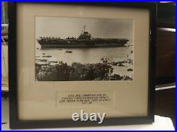 USS LAKE CHAMPLAIN(CVA39)1957 Flagship carrier DIV. 20 MADE BYBOATSCHIEF OF STAFF