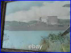 USS Lexington Saratoga Military Aircraft Carrier Real Photo WW2 Colorized Print