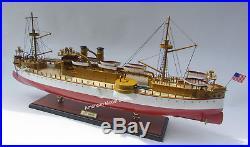 USS MAINE (ACR-1) Battleship Model 32 Handcrafted Wooden Model NEW