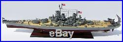 USS MISSOURI BB63 Battleship Model 40 Handcrafted Wooden Warship Model NEW
