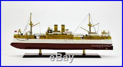 USS Maine (ACR-1) Armored Cruiser Wooden Battleship Model Museum Quality 32