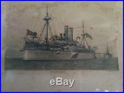 USS Maine Photo c 1896