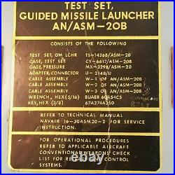 USS Midway CV-41 Guided Missile Launcher Test Set AN/ASM-20B Sidewinder Navy WOW