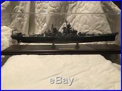 USS Missouri BB-63 Battleship Handcrafted War Ship Display Model In Case