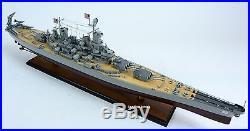 USS Missouri BB-63 Iowa-class Battleship 40 Handcrafted Wooden Ship Model