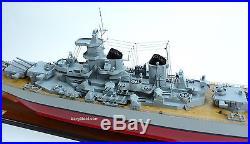 USS Missouri BB-63 Mighty Mo Iowa-class Wooden Battleship Model Scale 1250