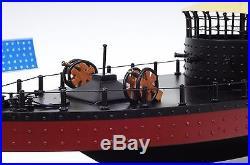 USS Monitor Civil War Ironclad US Navy Warship 25 Hand Built Wooden Model New