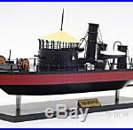 USS Monitor Civil War Ironclad Wooden Ship Scale Model 24 US Navy Warship Boat
