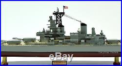 USS New Jersey BB-62 Big J Iowa-class Battleship Handmade Wooden Ship Model 40