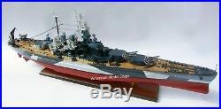 USS North Carolina (BB-55) Battleship Model 39 Handcrafted Wooden Scale 1220
