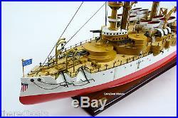 USS Oregon Pre-dreadnought Indiana-class Battleship 39 Wooden Ship Model