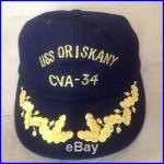 USS Oriskany CVA-34 Genuine Vintage Vietnam era Cap Hat RARE! Patch pilot