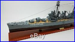 USS Philadelphia CL-41 Battleship Model 40 Handcrafted Wooden Model Scale 1/300