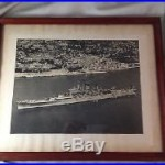 USS SALEM (CA-139) Vintage B&W Photograph US Navy MEDITERRANEAN FLEET Flagship