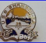 USS Shangri La CVA 38 Lapel / Hat Pin U. S. Navy Aircraft Carrier