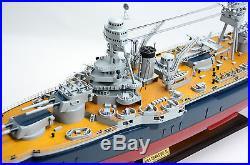 USS Texas BB-35 New York-Class Battleship 36 Handmade Wooden Ship Model