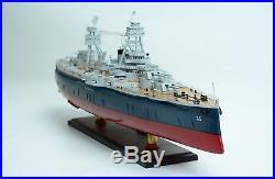 USS Texas BB-35 New York Class Battleship 36 Handmade Wooden Warship Model