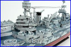 USS Texas BB-35 New York Class Battleship Camouflage 40 Wooden Warship Model