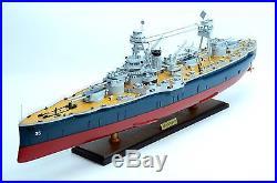 USS Texas BB-35 New York Class Battleship Handmade Wooden Warship Model NEW